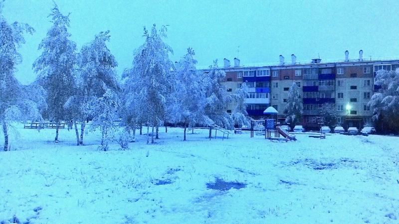 Мысковчане встретили «зимнюю сказку»