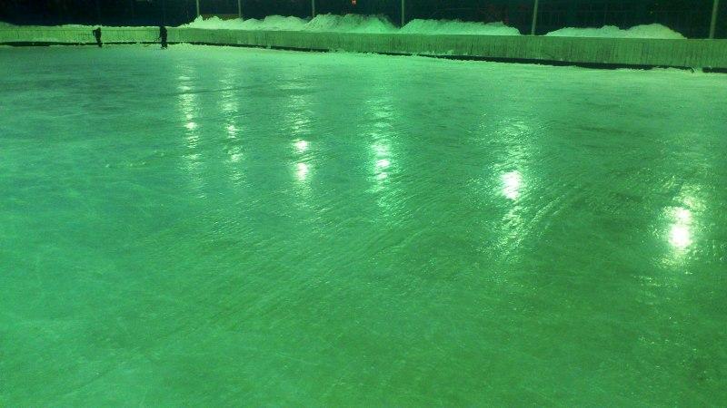 Мысковчане в шоке от качества льда на площадках