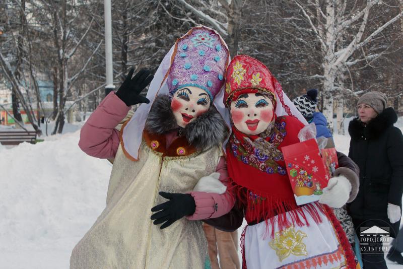 На городской площади торжеств состоялся веселый праздник «Коляда, коляда отворяй ворота»
