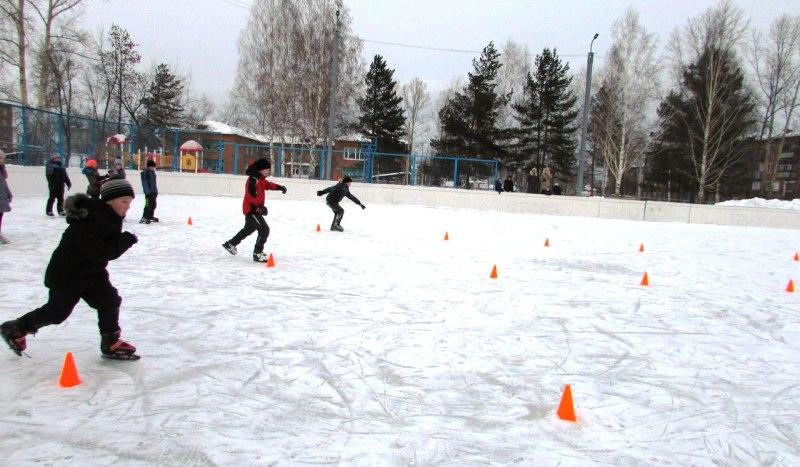 В Мысках для детей состоятся «Весёлые старты» на коньках