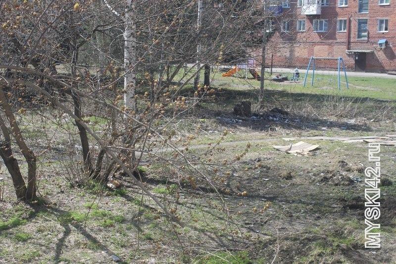 Жители жалуются на мусор в центре Мысков