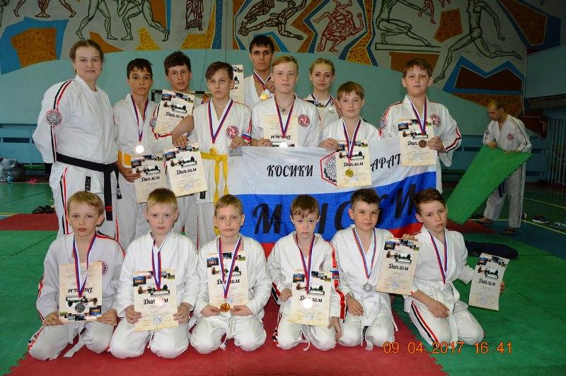 Мысковчане стали победителями в соревнованиях по каратэ в городе Осинники