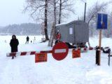 В Мысках открыта ледовая переправа которая соединяет Бородино и Усть-Мрасс