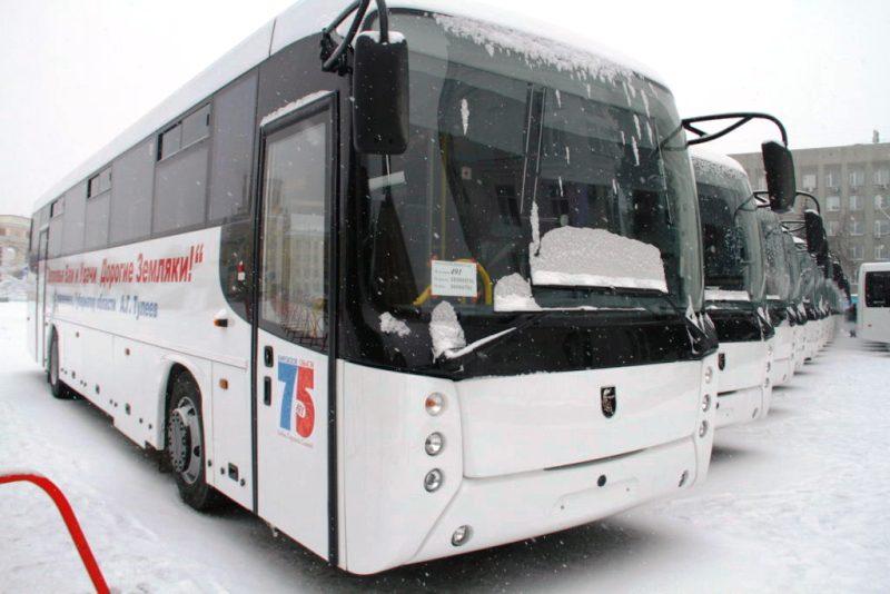 Мыски получили новые пассажирские автобусы марки НефАЗ