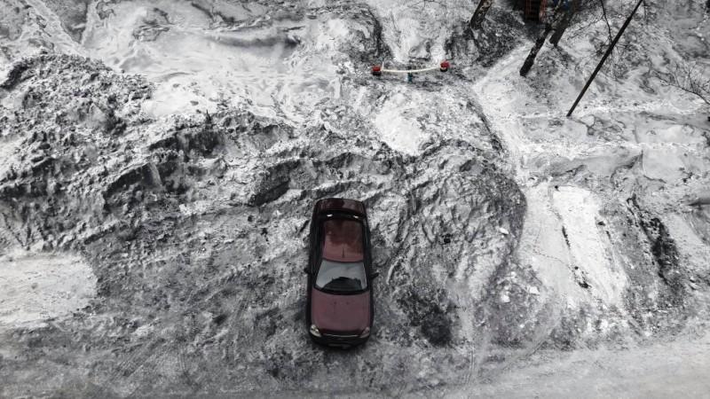 Жители Ключевого недовольны уборкой снега во дворах