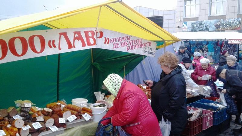 В Мысках проходит продовольственная ярмарка
