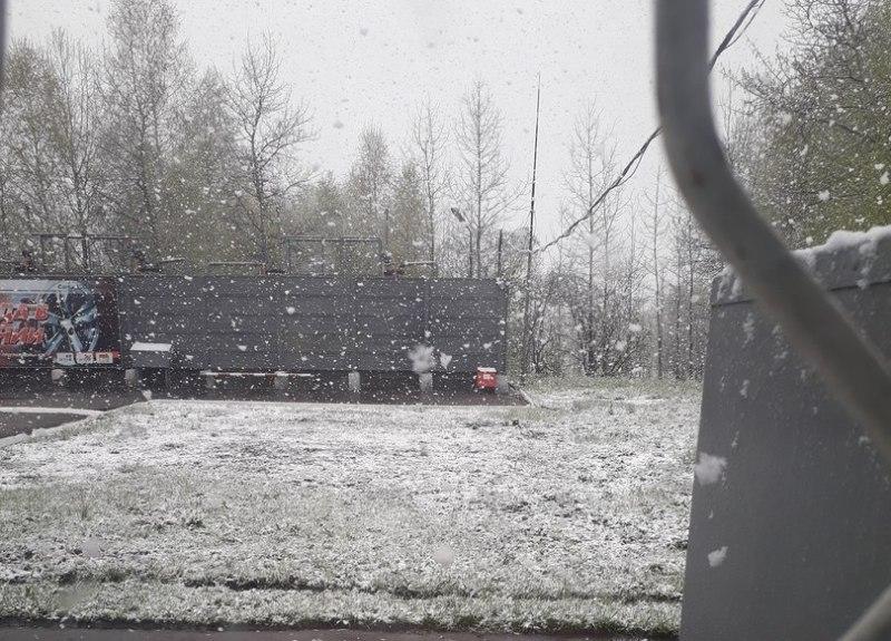 24 мая в Мысках выпал снег