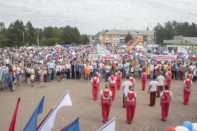 Мысковчане отпраздновали День России большим концертом и митингом
