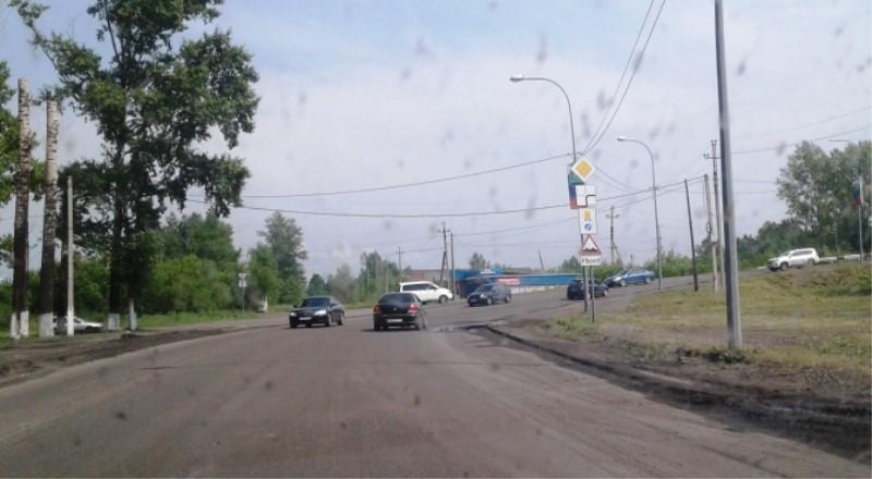 В Мысках стартовал очередной этап ремонта дорожного полотна областной трассы