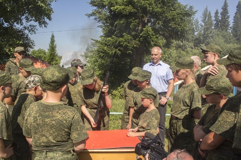 В Мысках открылся первый сезон военно-полевого палаточного лагеря «Гвардеец»