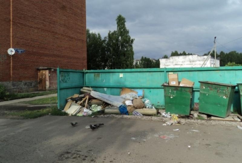 В микрорайоне ГРЭС из-за не вовремя вывезенного мусора скоро заведутся крысы