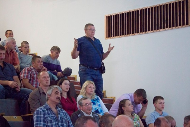 Глава Мысков Дмитрий Иванов встретился с работниками ЦОФ «Сибирь»