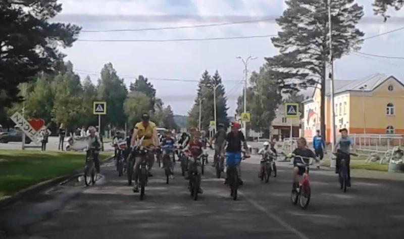 В Мысках состоялся велопробег, посвященный Дню шахтера