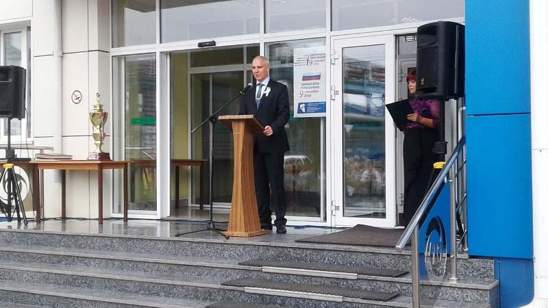 В Мысках на Томь-Усинской ГРЭС была торжественно открыта Памятная доска в честь 100-летия комсомола