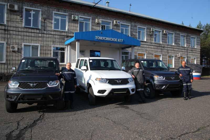 «Южный Кузбасс» приобрел три автомобиля УАЗ-Патриот и прицеп-тяжеловоз
