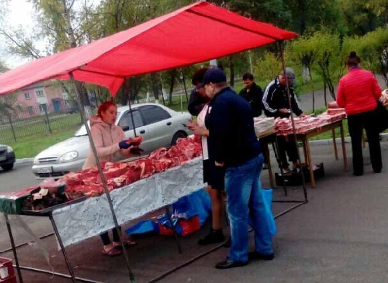 В Мысках проводится ярмарка пищевой, перерабатывающей и легкой промышленности