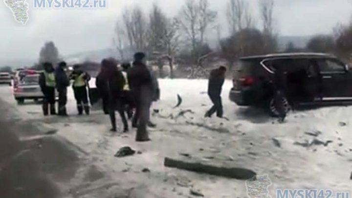 В Мысках произошло дорожно-транспортное происшествие. Есть пострадавшие