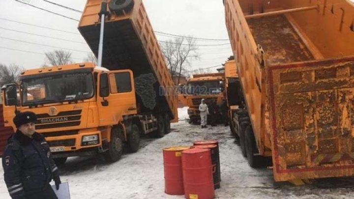 В микрорайоне ГРЭС на улице Центральная выявлена несанкционированная стоянка большегрузного транспорта