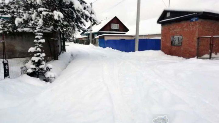 Мысковчане сообщают о заваленной снегом улицы Кийзакская