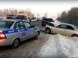 В Мысках произошло ДТП с участием Toyota и Нива