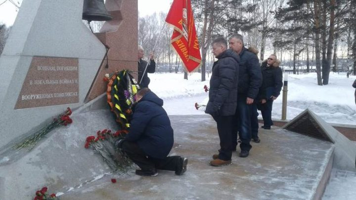В Мысках прошел торжественный митинг, посвященный 30-й годовщине вывода Советских войск из Афганистана