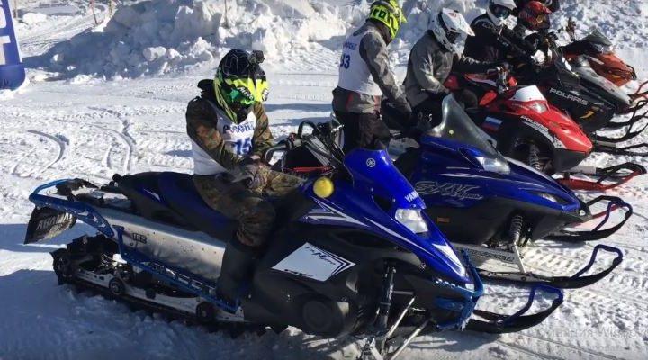 В Мысках прошел фестиваль снегоходов «Февральская метель — 2019»