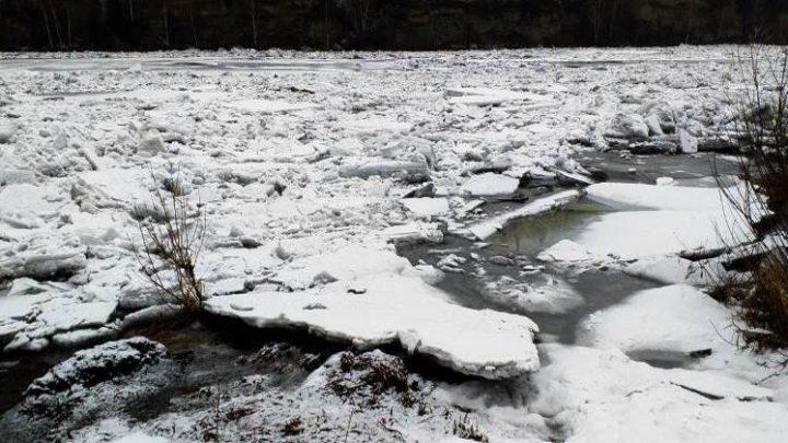 Первая волна паводка в Мысках проходит спокойно