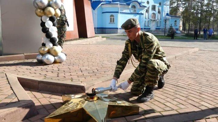 На мемориале Славы в Мысках состоялось торжественное зажжение Огня Памяти