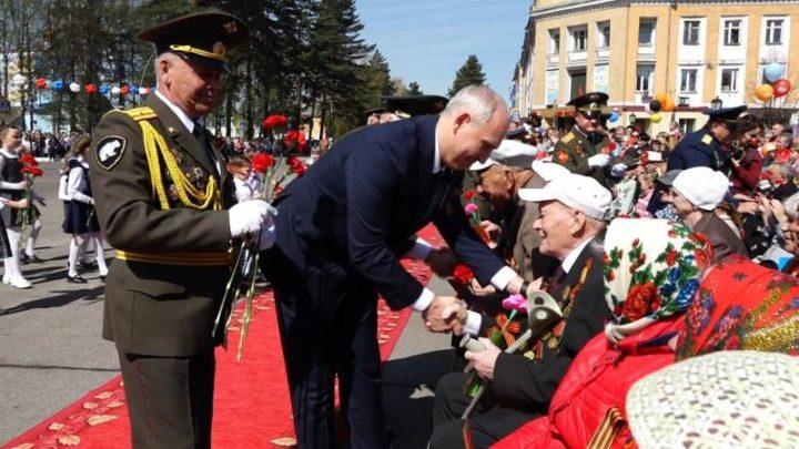 В Мысках прошел торжественный митинг, посвященный 74-й годовщине Великой Победы!