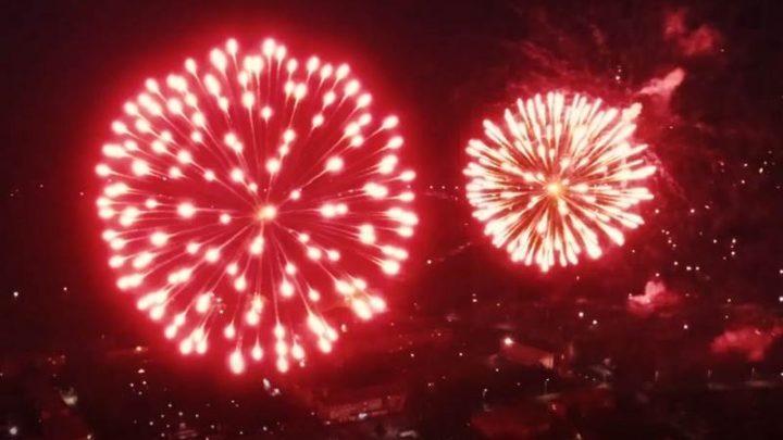9 мая в Мысках прогремел праздничный фейерверк