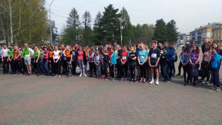 В Мысках прошла  легкоатлетическая эстафета, посвященная 74-ой годовщине Победы в Великой Отечественной войне