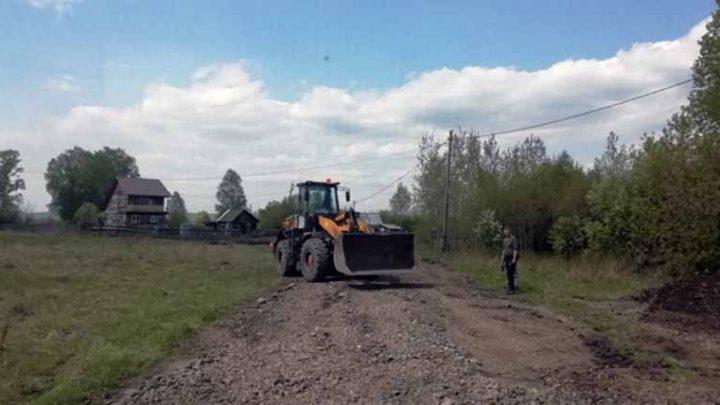 В Мысках отсыпку дорог частного сектора начали с п.Ключевой