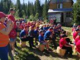 В «Лужбе» прошло открытие первой лагерной смены лагеря — спутника «Вершины воинской славы»