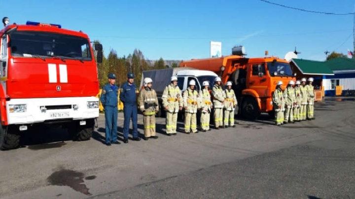 В Чувашке прошел смотр сил и средств, привлекаемых к тушению лесных пожаров