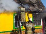 На улице Мира в Мысках произошел пожар