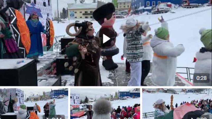 Шорский Дед Мороз зажег Шерегеш своим выступлением