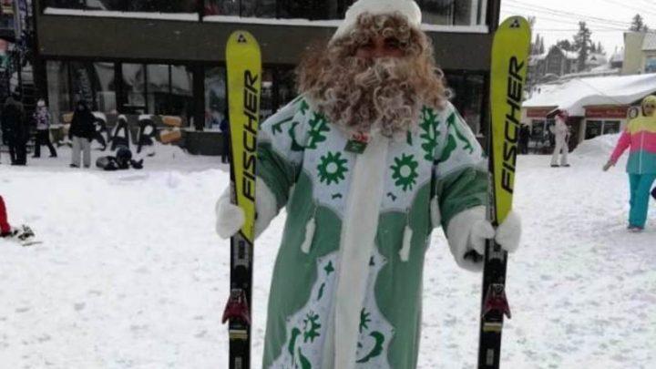 Мысковский Дед Мороз принимает участие в открытии новогоднего проекта «В новый год вместе» в Шерегеше