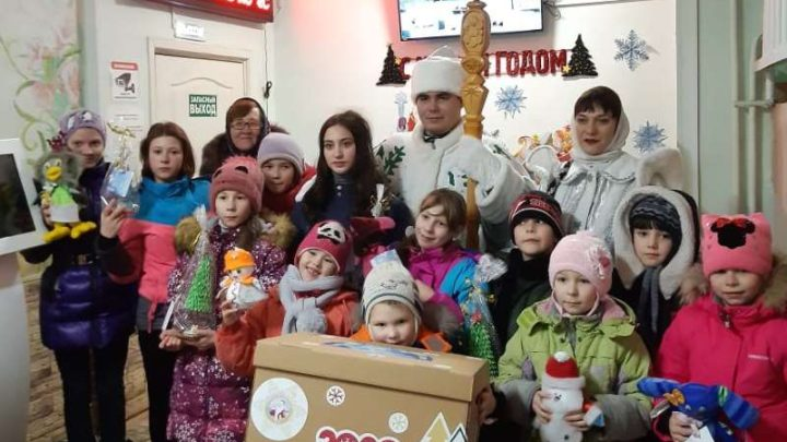 Соок Апший (Шорский Дед Мороз) встретился с воспитанниками социально-реабилитационного центра «Маленький принц» г.Кемерово