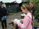 В Мысках сотрудники ГИБДД правели информирование несовершеннолетних